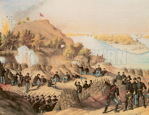 Siege of Vicksburg.  Note: Kutz & Allison print.  Scan of later reproduction.