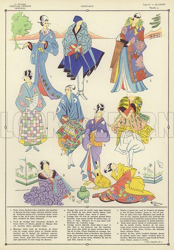 Illustration for L'Histoire du costume feminin Mondial by Paul Louis de Giafferri (Nilsson, 1922–23).