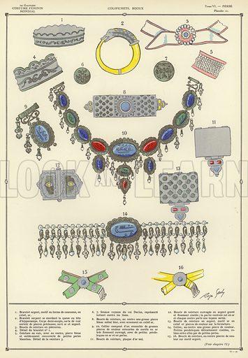 Illustration for L'Histoire du costume feminin Mondial by Paul Louis de Giafferri (Nilsson, 1922-23).