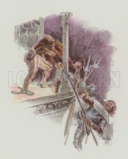 Illustration for Notre-Dame De Paris by Victor Hugo translated by A L Alger (Sampson Low, c 1895).