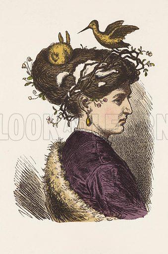 Hat for March.  Illustration for Munchener Bilderbogen (Braun & Schneider, Munich, 19th Century).