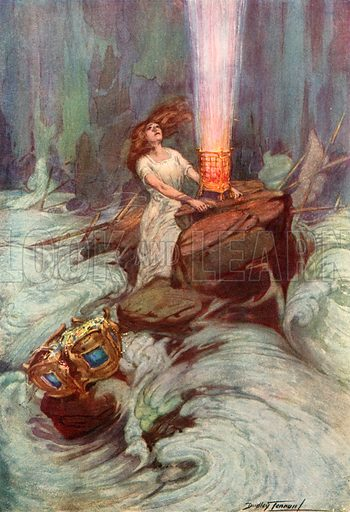 Faith.  Illustration for Poems Of Passion And Pleasure by Ella Wheeler Wilcox (Gay and Hancock, c 1912).