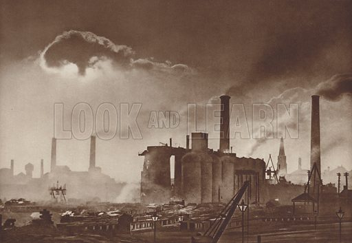 A steelworks in Leeds, Yorkshire, England