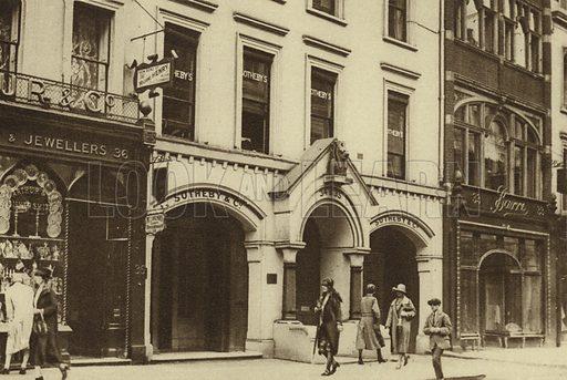Sotheby's auction house, New Bond Street