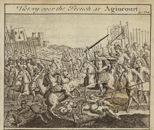 Victory of the English over the French at the Battle of Agincourt, Hundred Years War, 1415