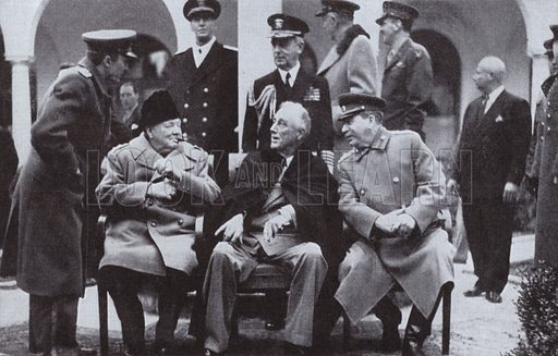 The Yalta Conference Between Allied Leaders Winston Churchill