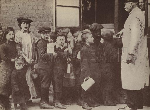 Salvation Army communal soup kitchen in Bermondsey, London, World War I, March 1917