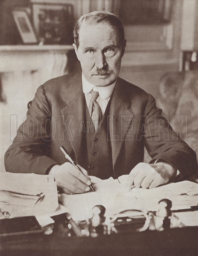 Andrew Bonar Law, British Conservative politician and Prime Minister, 1922. Illustration from The Story of 25 Eventful Years in Pictures (Odhams Press Ltd, London, 1935).