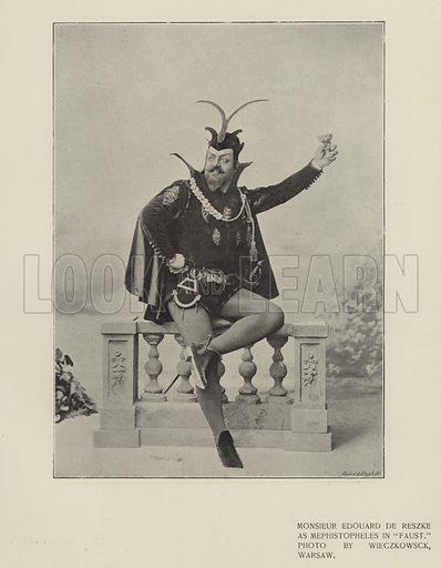"""Monsieur Edouard de Reszke as Mephistopheles in """"Faust"""""""