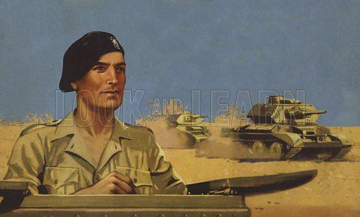 British tanks in North Africa, World War II