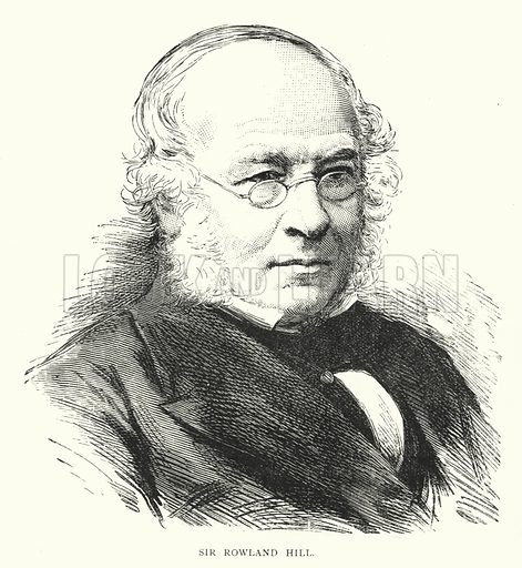 Sir Rowland Hill. Illustration for Pictures of the Past for Little People by Uncle Harry (Sunday School Union, 1887).