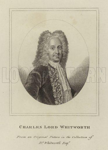 Charles Whitworth, Baron Whitworth (1675-1725), English diplomat. Illustration from Woodburn's Gallery of Rare Portraits (George Jones, London, 1816).