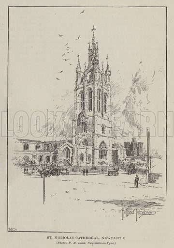 St Nicholas Cathedral, Newcastle-upon-Tyne. Illustration from The Quiver (Cassell and Company, Limited, London, Paris and Melbourne, 1895).