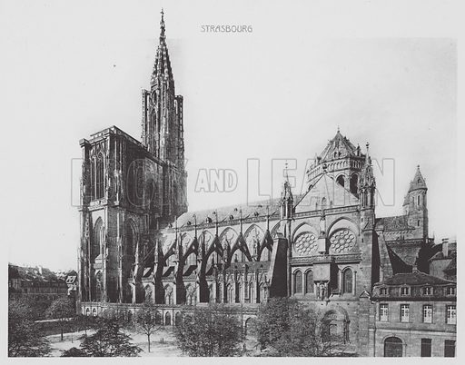 La Cathedrale, Cote sud. Illustration for Strasbourg, 18 Vues Artistiques (CAP, c 1920).  Many photos seemingly earlier.