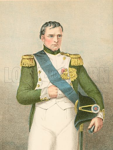 Napoleon I.  Illustration for Pictorial Records of Remarkable Events (James Sangster, c 1880).
