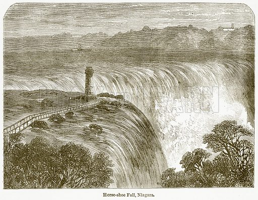 Horse-Shoe Fall, Niagara. Illustration from The National Encyclopaedia (William Mackenzie, c 1900).