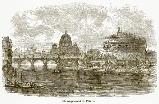 St Angelo and St Peter's. Illustration from The National Encyclopaedia (William Mackenzie, c 1900).