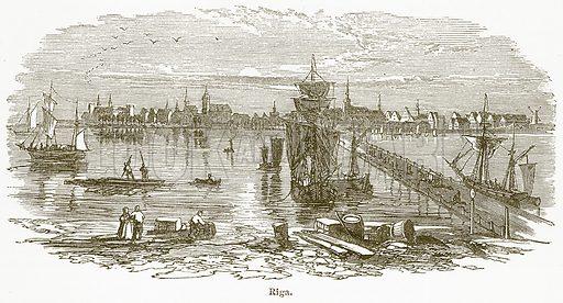 Riga. Illustration from The National Encyclopaedia (William Mackenzie, c 1900).