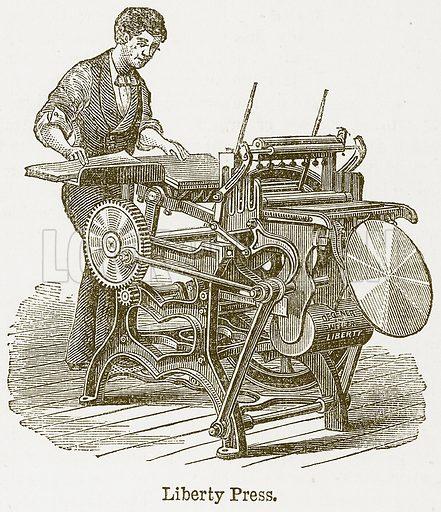 Liberty Press. Illustration from The National Encyclopaedia (William Mackenzie, c 1900).