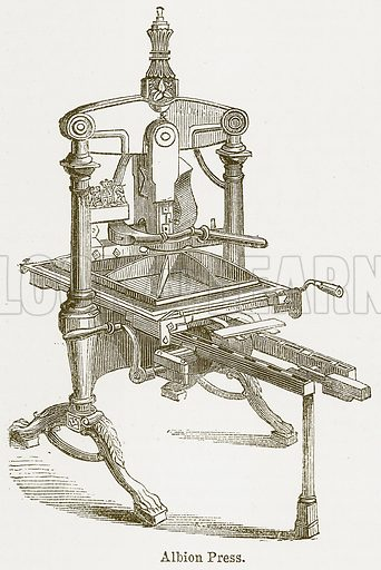 Albion Press. Illustration from The National Encyclopaedia (William Mackenzie, c 1900).
