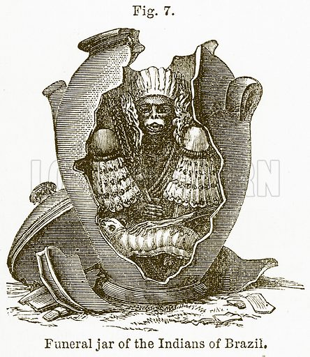 Funeral Jar of the Indians of Brazil. Illustration from The National Encyclopaedia (William Mackenzie, c 1900).