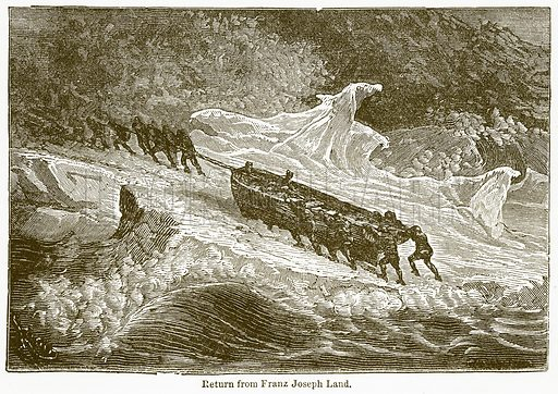 Return from Franz Joseph Land. Illustration from The National Encyclopaedia (William Mackenzie, c 1900).