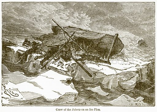 Crew of the Polaris on an Ice Floe. Illustration from The National Encyclopaedia (William Mackenzie, c 1900).