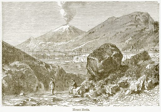 Mount Hecla. Illustration from The National Encyclopaedia (William Mackenzie, c 1900).