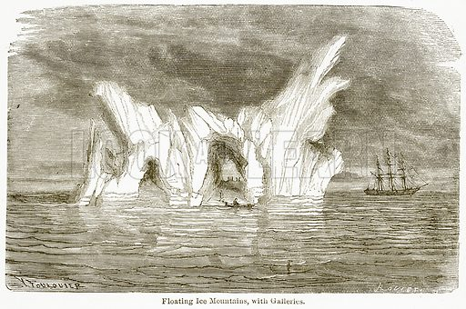 Floating Ice Mountains, with Galleries. Illustration from The National Encyclopaedia (William Mackenzie, c 1900).