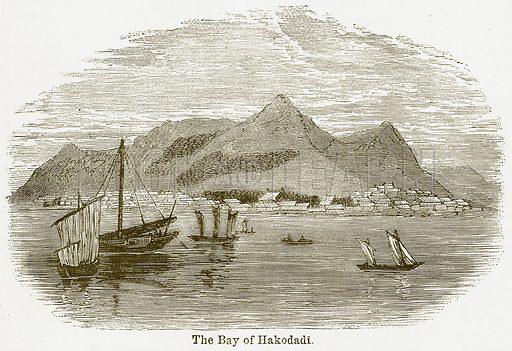 The Bay of Hakodadi. Illustration from The National Encyclopaedia (William Mackenzie, c 1900).