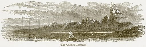The Canary Islands. Illustration from The National Encyclopaedia (William Mackenzie, c 1900).