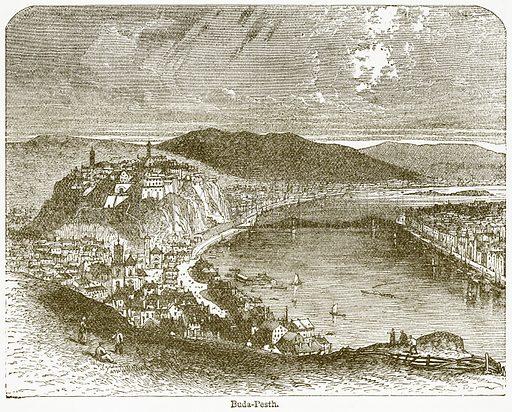 Buda-Pesth. Illustration from The National Encyclopaedia (William Mackenzie, c 1900).