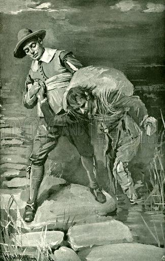 The slough of despond. Illustration for Pilgrim's Progress by John Bunyan (Religious Tract Society, 1906).