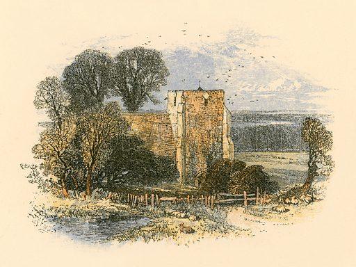 Church. Illustration from Sabbath Bells (Joseph Cundall, 1861).
