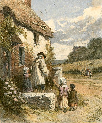 Sunday Morning. Illustration from Sabbath Bells (Joseph Cundall, 1861).