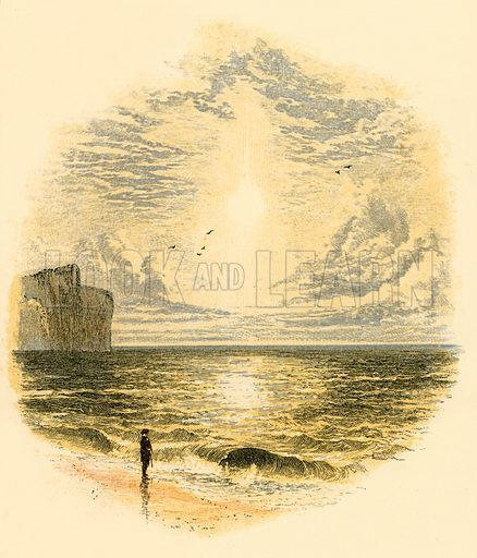 Sunday morning's walk. Illustration from Sabbath Bells (Joseph Cundall, 1861).