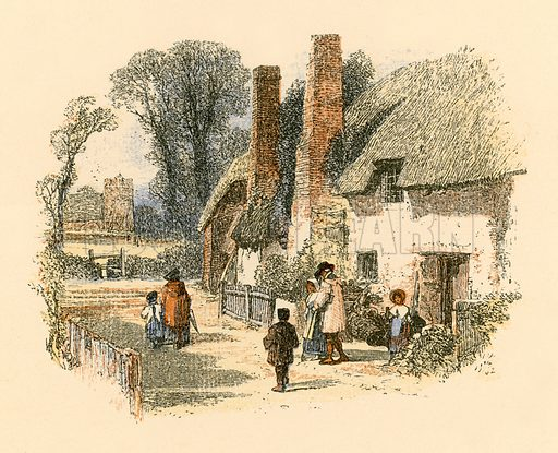 The Sabbath. Illustration from Sabbath Bells (Joseph Cundall, 1861).