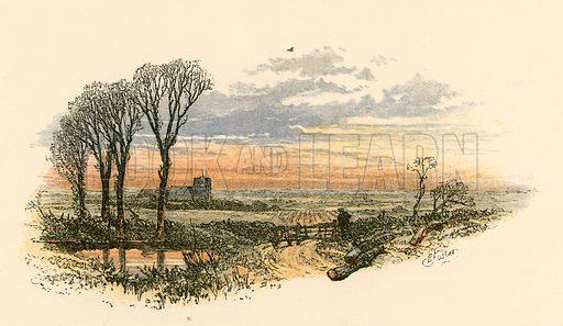 Sunday evening's walk. Illustration from Sabbath Bells (Joseph Cundall, 1861).