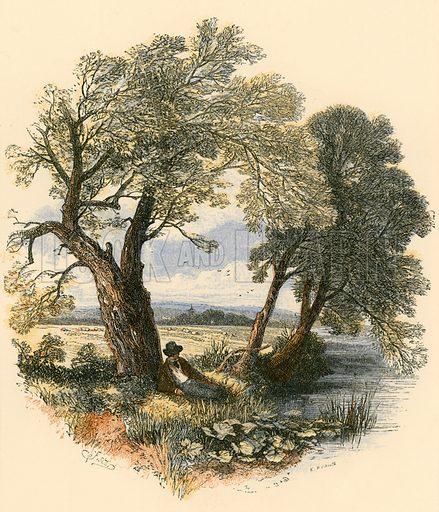 Sabbath Walks. Illustration from Sabbath Bells (Joseph Cundall, 1861).