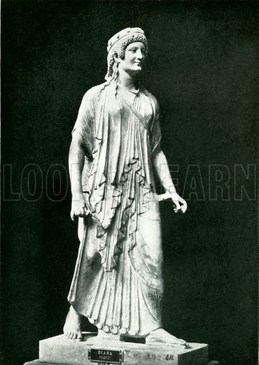 The Archaic Artemis. Illustration from Pompeii by WM Mackenzie (A&C Black, c 1905).