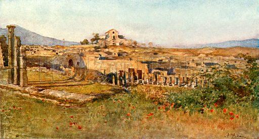 The Gladiatorial Barracks. Illustration from Pompeii by WM Mackenzie (A&C Black, c 1905).