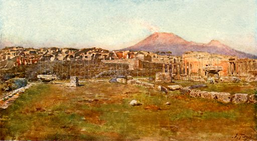 In the Triangular Forum. Illustration from Pompeii by W M Mackenzie (A&C Black, c 1905).