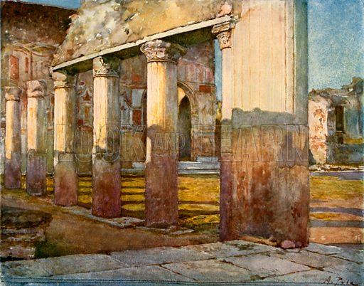 The Stabian Baths. Illustration from Pompeii by W M Mackenzie (A&C Black, c 1905).