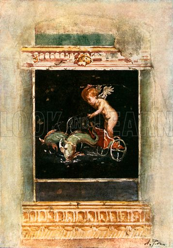 Decorative Panel Picture from House of the Vettii. Illustration from Pompeii by WM Mackenzie (A&C Black, c 1905).