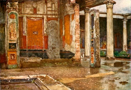 House of the Vettii. Illustration from Pompeii by WM Mackenzie (A&C Black, c 1905).
