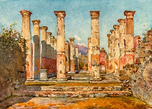 House of Ariadne. Illustration from Pompeii by WM Mackenzie (A&C Black, c 1905).