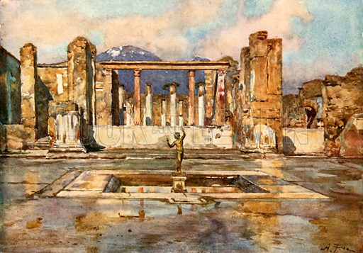 The House of the Faun. Illustration from Pompeii by WM Mackenzie (A&C Black, c 1905).