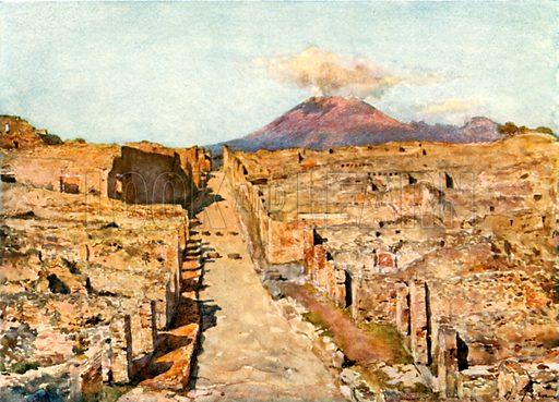 Stabian Street. Illustration from Pompeii by WM Mackenzie (A&C Black, c 1905).