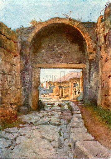 The Stabian Gate. Illustration from Pompeii by WM Mackenzie (A&C Black, c 1905).