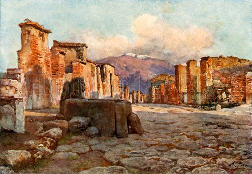 Consular Street. Illustration from Pompeii by WM Mackenzie (A&C Black, c 1905).